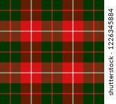 christmas and new year tartan... | Shutterstock .eps vector #1226345884