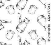 seamless pattern. hand drawn... | Shutterstock .eps vector #1226347261
