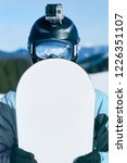snowboarder with action camera...   Shutterstock . vector #1226351107