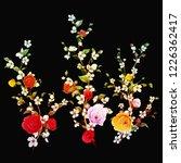 sakura flowers. illustration of ...   Shutterstock .eps vector #1226362417
