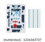 vector editable floor plan with ... | Shutterstock .eps vector #1226363737