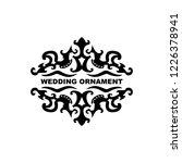 wedding ornament vector...   Shutterstock .eps vector #1226378941