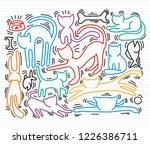 hand drawn vector illustrations ... | Shutterstock .eps vector #1226386711