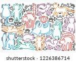 hand drawn vector illustrations ... | Shutterstock .eps vector #1226386714