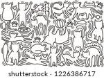 hand drawn vector illustrations ... | Shutterstock .eps vector #1226386717