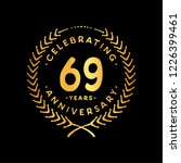 69 years design template. 69th... | Shutterstock .eps vector #1226399461