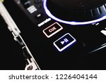 cue and play button on a black... | Shutterstock . vector #1226404144