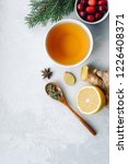 herbal tea for colds and flu.... | Shutterstock . vector #1226408371