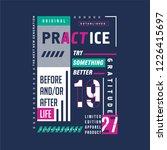 practice gratitude text frame... | Shutterstock .eps vector #1226415697