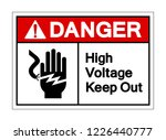 danger high voltage keep out... | Shutterstock .eps vector #1226440777
