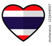 flag of thailand in the shape... | Shutterstock .eps vector #1226448007