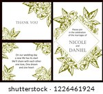 vintage delicate greeting...   Shutterstock . vector #1226461924