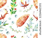 watercolor winter seamless... | Shutterstock . vector #1226462131