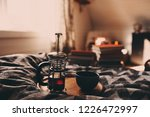 cozy winter morning with cup of ... | Shutterstock . vector #1226472997