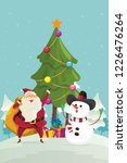 merry christmas santa claus...   Shutterstock .eps vector #1226476264
