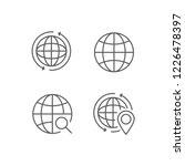 simple set of globe outline... | Shutterstock .eps vector #1226478397