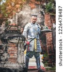 ancient thai soldiers ready to... | Shutterstock . vector #1226478487