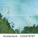the beach with pathway around... | Shutterstock . vector #1226478787