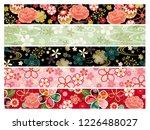 kimono pattern line set   Shutterstock .eps vector #1226488027