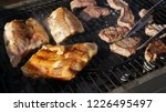 grilled beef and pork ribs | Shutterstock . vector #1226495497