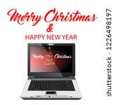 laptop loading christmas app.... | Shutterstock .eps vector #1226498197