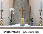 A Gold Crucifix  Symbol Of The...