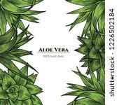 Vector Frame With Aloe Vera....
