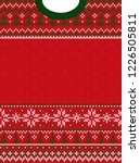 ugly sweater merry christmas... | Shutterstock .eps vector #1226505811
