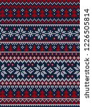 ugly sweater merry christmas... | Shutterstock .eps vector #1226505814