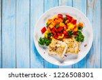 fish dish   fried fish fillet... | Shutterstock . vector #1226508301