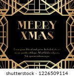 merry christmas or xmas art... | Shutterstock .eps vector #1226509114