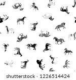 seamless endless hand painting...   Shutterstock . vector #1226514424