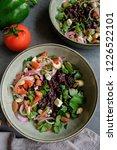 homemade vegetarian cuisine  ... | Shutterstock . vector #1226522101