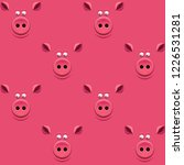 seamless pattern with a pig's... | Shutterstock .eps vector #1226531281
