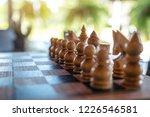 closeup image of a wooden chess ... | Shutterstock . vector #1226546581