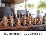 closeup image of a wooden chess ... | Shutterstock . vector #1226546584