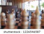 closeup image of a wooden chess ... | Shutterstock . vector #1226546587