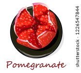 pomegranate hand drown vector... | Shutterstock .eps vector #1226547844