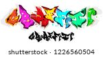 wild style graffiti alphabet   Shutterstock .eps vector #1226560504