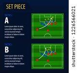set piece tactics.broadcast... | Shutterstock .eps vector #1226566021