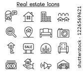 real estate icon set in thin... | Shutterstock .eps vector #1226569621