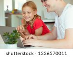 happy young father have fun... | Shutterstock . vector #1226570011