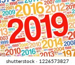 2019 happy new year and...   Shutterstock .eps vector #1226573827