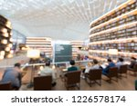 blurred of books on bookshelves ... | Shutterstock . vector #1226578174
