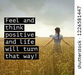 quote. best inspirational and... | Shutterstock . vector #1226581447