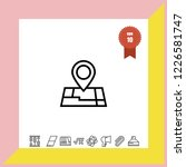 location map icon vector   Shutterstock .eps vector #1226581747