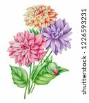 hand painted floral bouquet | Shutterstock . vector #1226593231