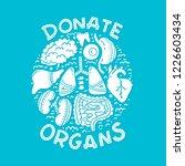 vector donate internal human... | Shutterstock .eps vector #1226603434