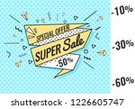 ribbon banner with text big ... | Shutterstock .eps vector #1226605747