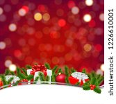 christmas banner with bokeh and ... | Shutterstock .eps vector #1226610001